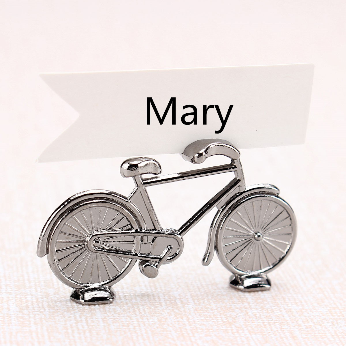 1Pcs Bicycle Shape Name Number Table Place Card Holder Bike Pattern Wedding Party Favor