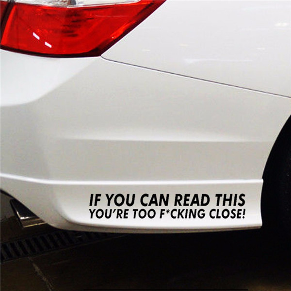 Reflective Warning Label Car Stickers Auto Truck Vehicle Motorcycle Decal
