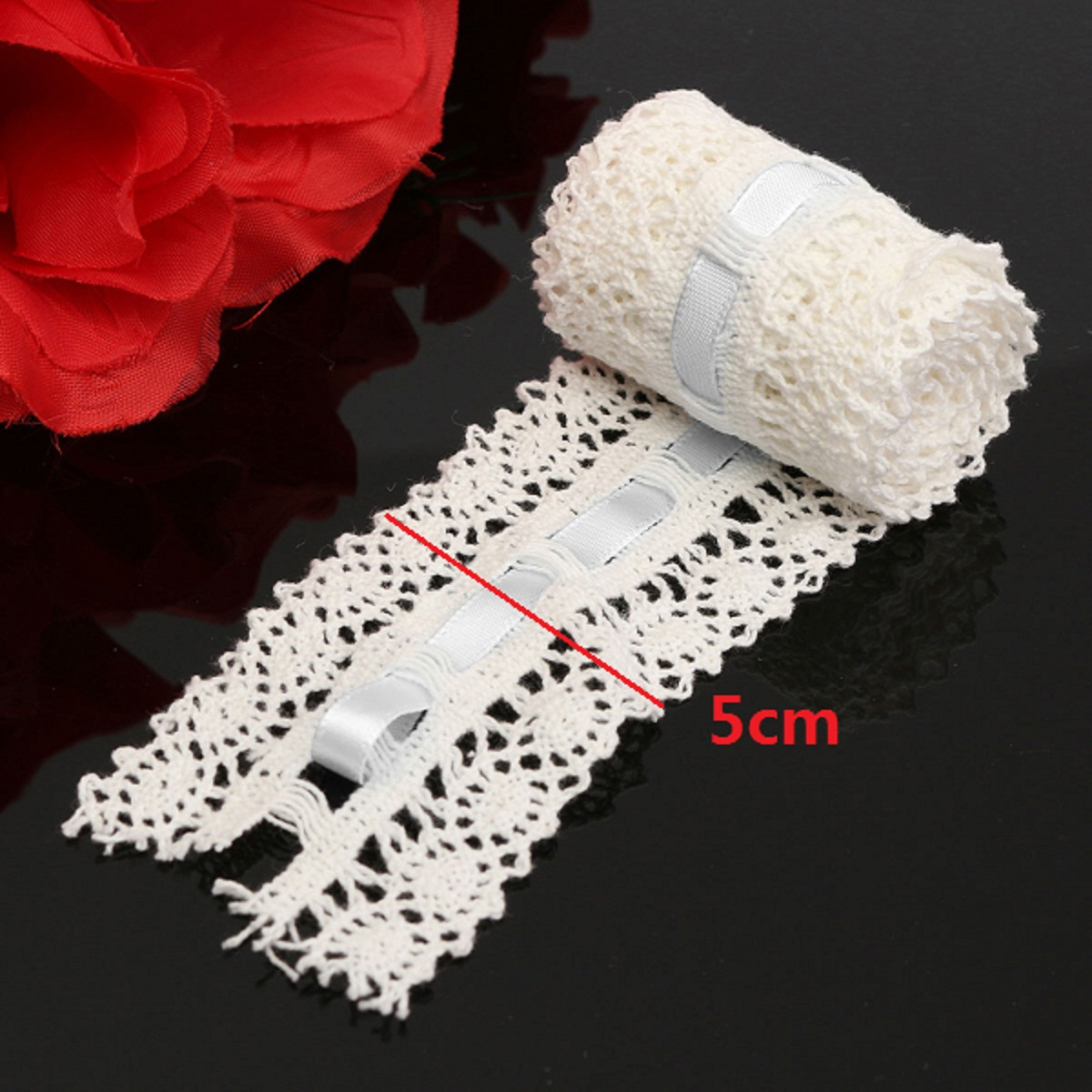 Vintage Crochet Embroidered Lace Edge Ribbon Sewing Craft Home Wedding Party Decoration