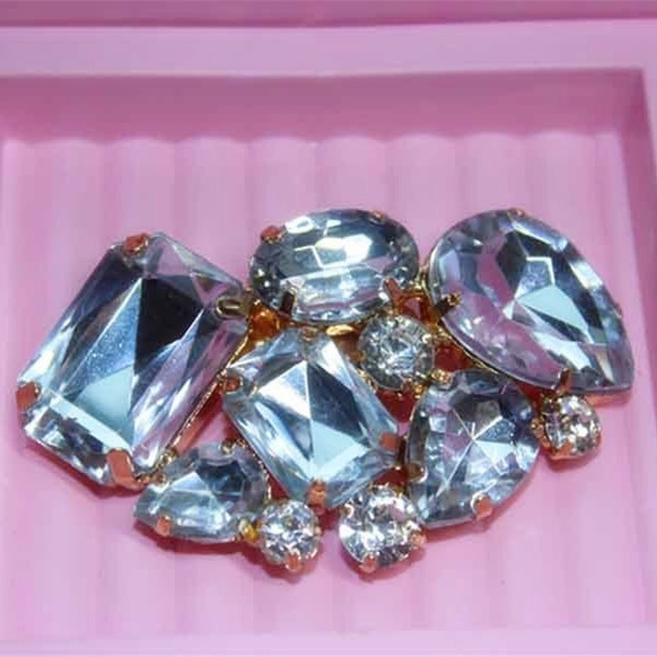 Colorful Clear Acrylic Shoe Buckle Clips High Heel Jewelry Wedding Bridal Pair
