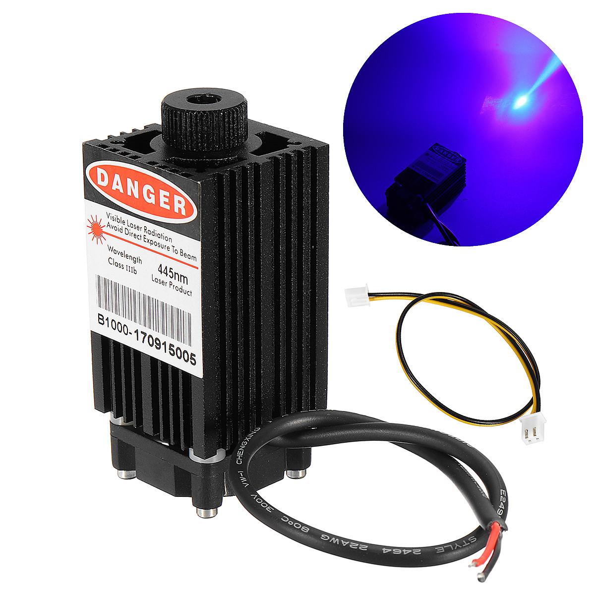 1000mW 445nm Focusable Blue Laser Module for DIY Laser Printer Engraving Machine Engraver
