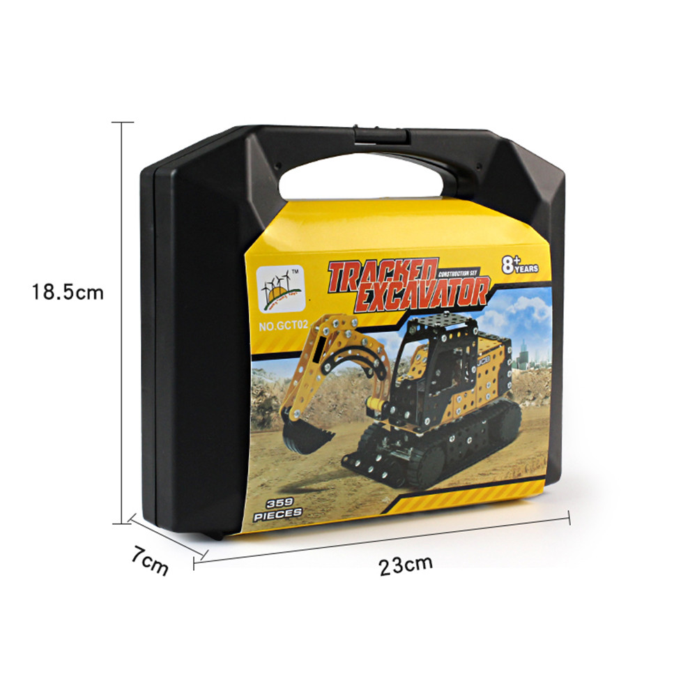 MoFun 3D Metal Puzzle Construction Truck Stainless Steel Model Building Toy 351PCS