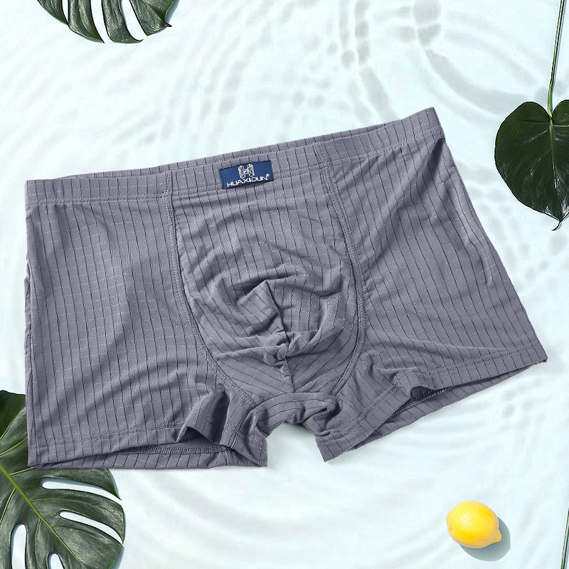 Ice Silk Summer Soft Cool Breathable Boxer Briefs Underwear
