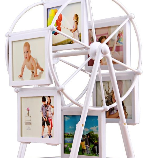 5 Inch Rotating Ferris Wheel Photo Frame Swing Sets Creative Double-Sided For Memorial Gift Frame