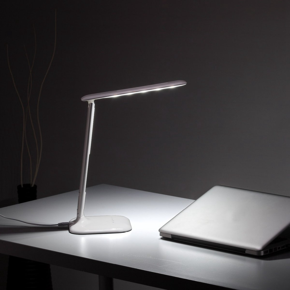 4W Foldable LED Touch Sensor Dimmable Desk Table Lamp Bedside Reading Light USB