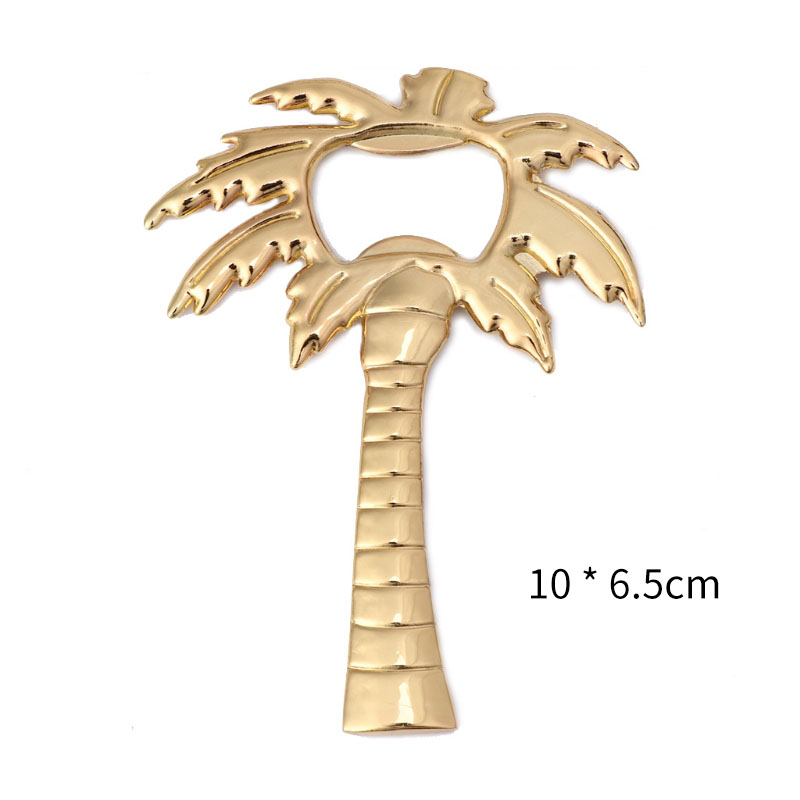Bottle Cap Opener Golden Palm Tree Soda Glass Cap Beer Palm Breeze Bottle Opener Coconut Tree Shape Wine Barware Tool Wedding Party Favor Gift