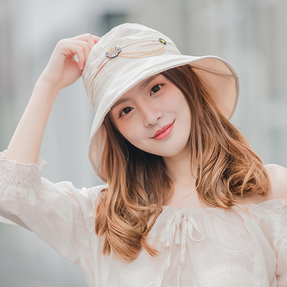 Wide Brim UV Protection Bucket Hat Vacation Beach Visor Sun