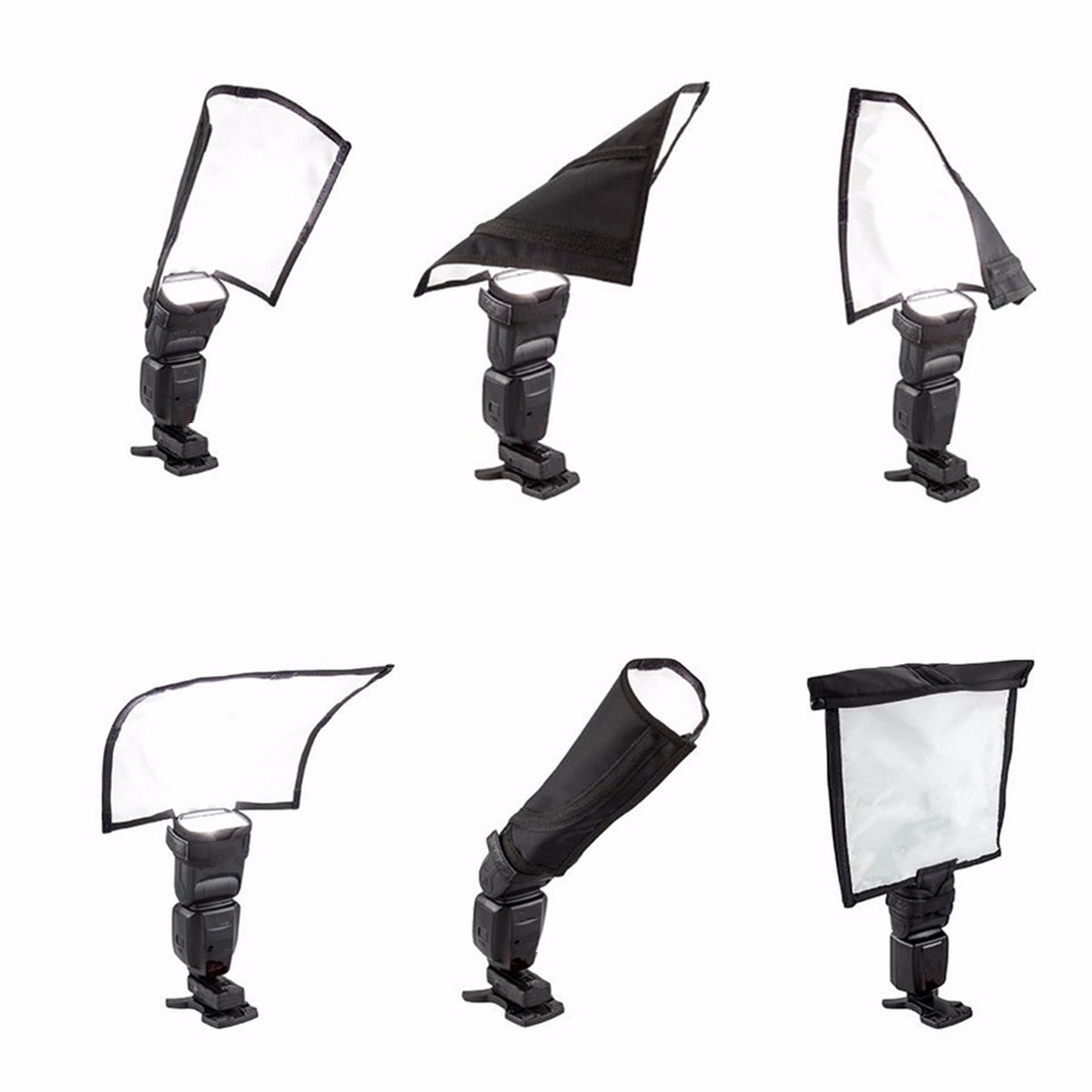 Foldable Speedlight Reflector Speedlite Spotlighting Flash Light Softbox Diffuser