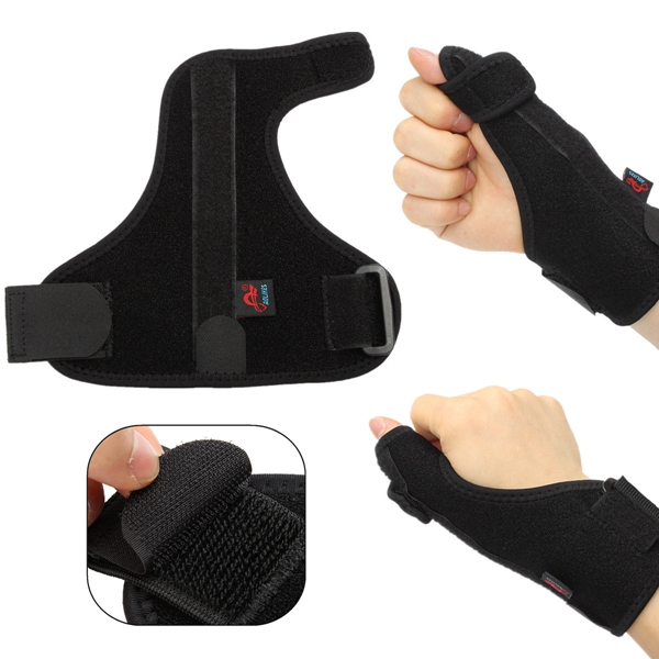 AOLIKES Adjustable Sport Thumb Spica Splint Brace Support Stabiliser Sprain Strain Arthritis