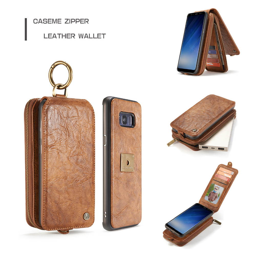 Caseme Detachable Zipper Wallet Case For Samsung Galaxy S8