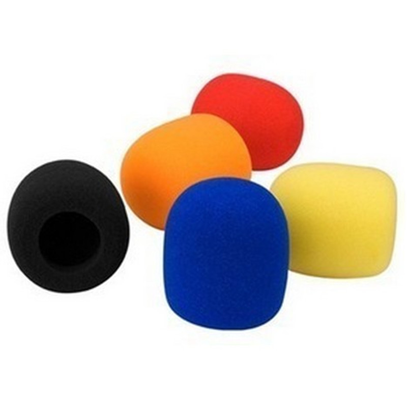 1Pair Randomly Color Musician's Gear Microphone Windscreen Black Foam
