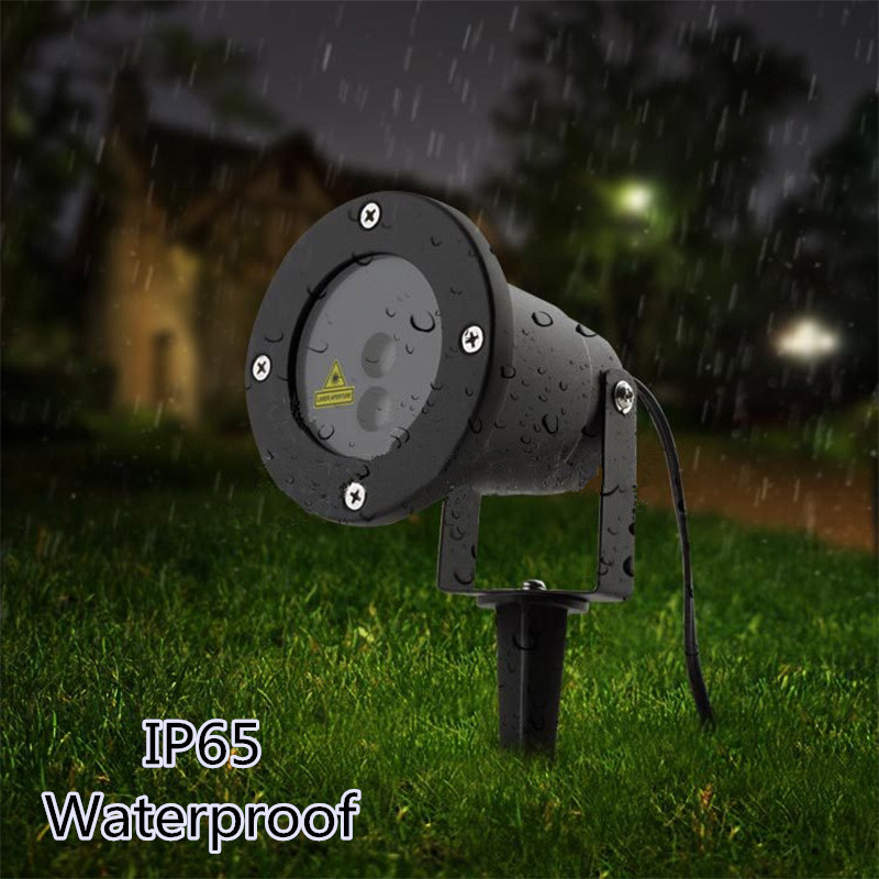R&G Remote Christmas 8 Pattern Waterproof Laser Projector Stage Light Garden Lawn Landscape Lamp