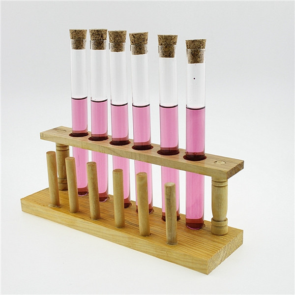 10Pcs Lab Glass Test Tube With Cork Stopper 20ml/35ml/50ml