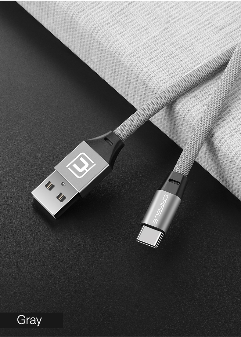 Cafele Type C Noodle Braided Charging Data Cable 1.2M For Oneplus 5t Xiaomi 6 Mi A1 Mix 2S S9+