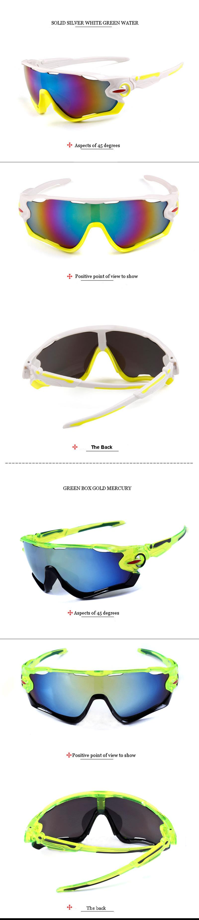 UV400 Cycling Sunglasses Sports Sunglasses Ride Glasses Eyelids Outdoor Mountain Bike Glasses