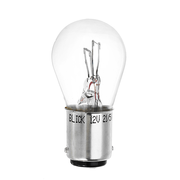 BLICK 1176 S25 12V 21/5W BA15D Brake Light Bulb Automobile Car Halogen Quartz Glass Stop Lamp