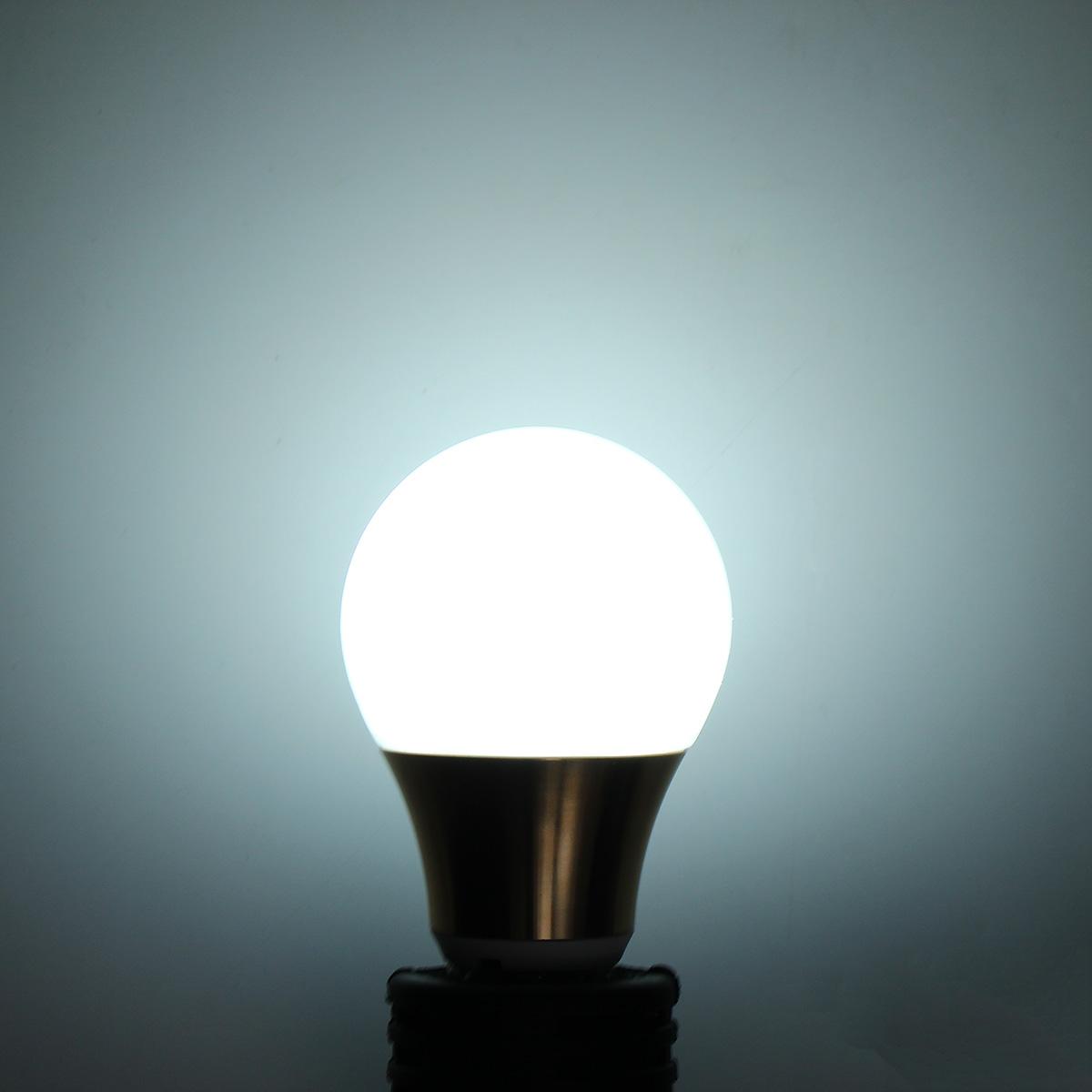 Dimmable E27 B22 5W 10 SMD 5730 LED Pure White Warm White Globe Lighting Bulb AC220V