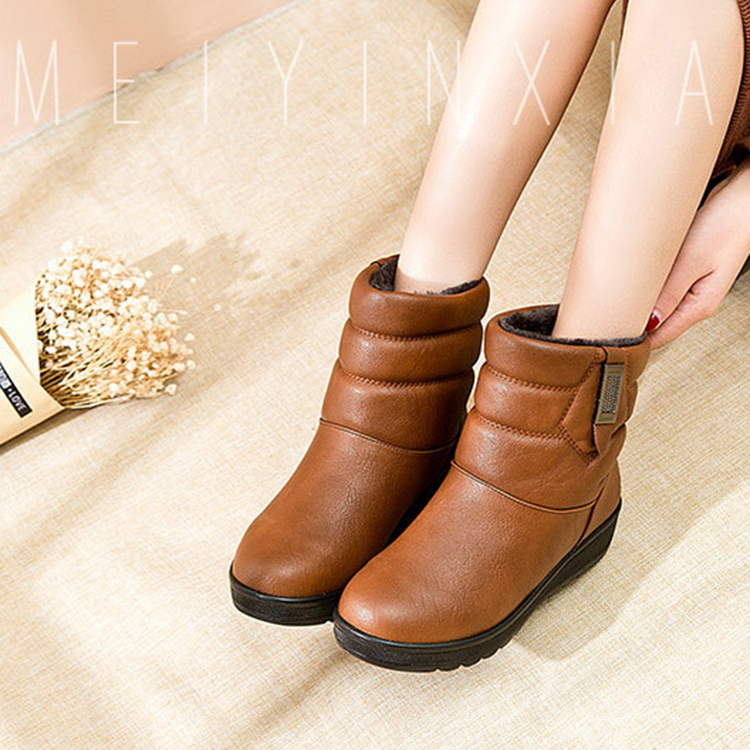 Women Winter Boots Fur Plush Insole Ankle Snow Boots