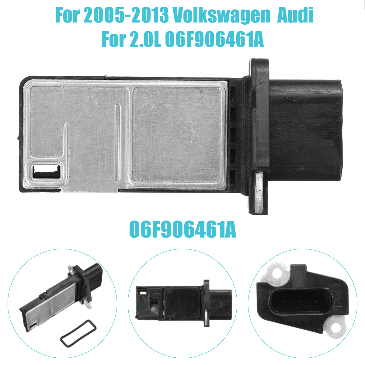 Mass Airflow Sensor Meter MAF For 2005-2013 Vw and AU DI 2.0L 06F906461A