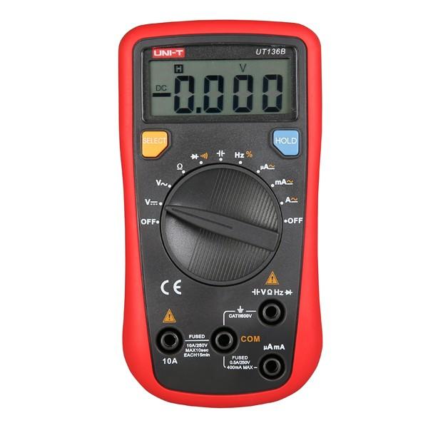 UNI-T UT136B Auto Range Digital Multimeter AC DC Resistance Tester
