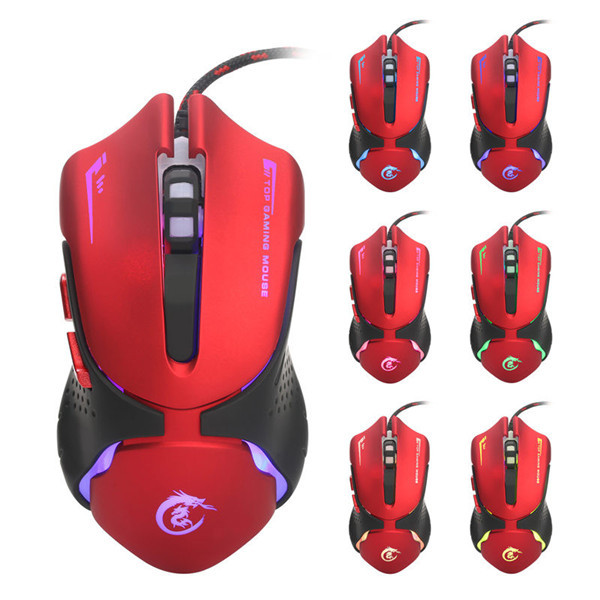 A903R 6D 1200/ 1600/ 2400/ 3200dpi Seven Color Ergonomic Wired Mouse (Eachine1) Evansville Prices for goods