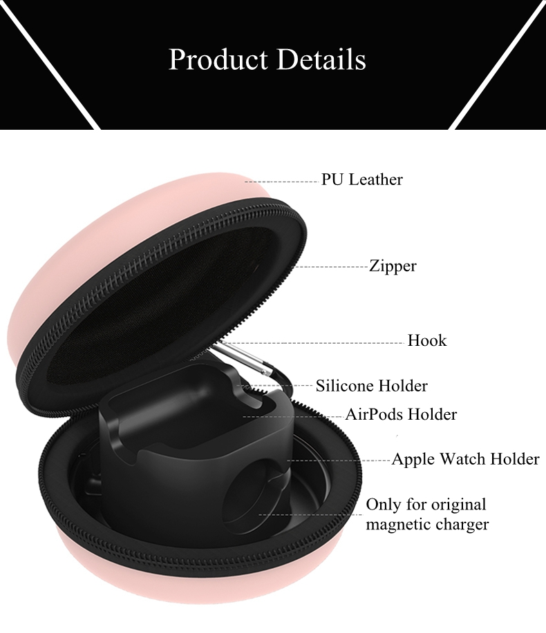 Bakeey Storage Bag Charging Holder For Apple Watch Series/Apple AirPods