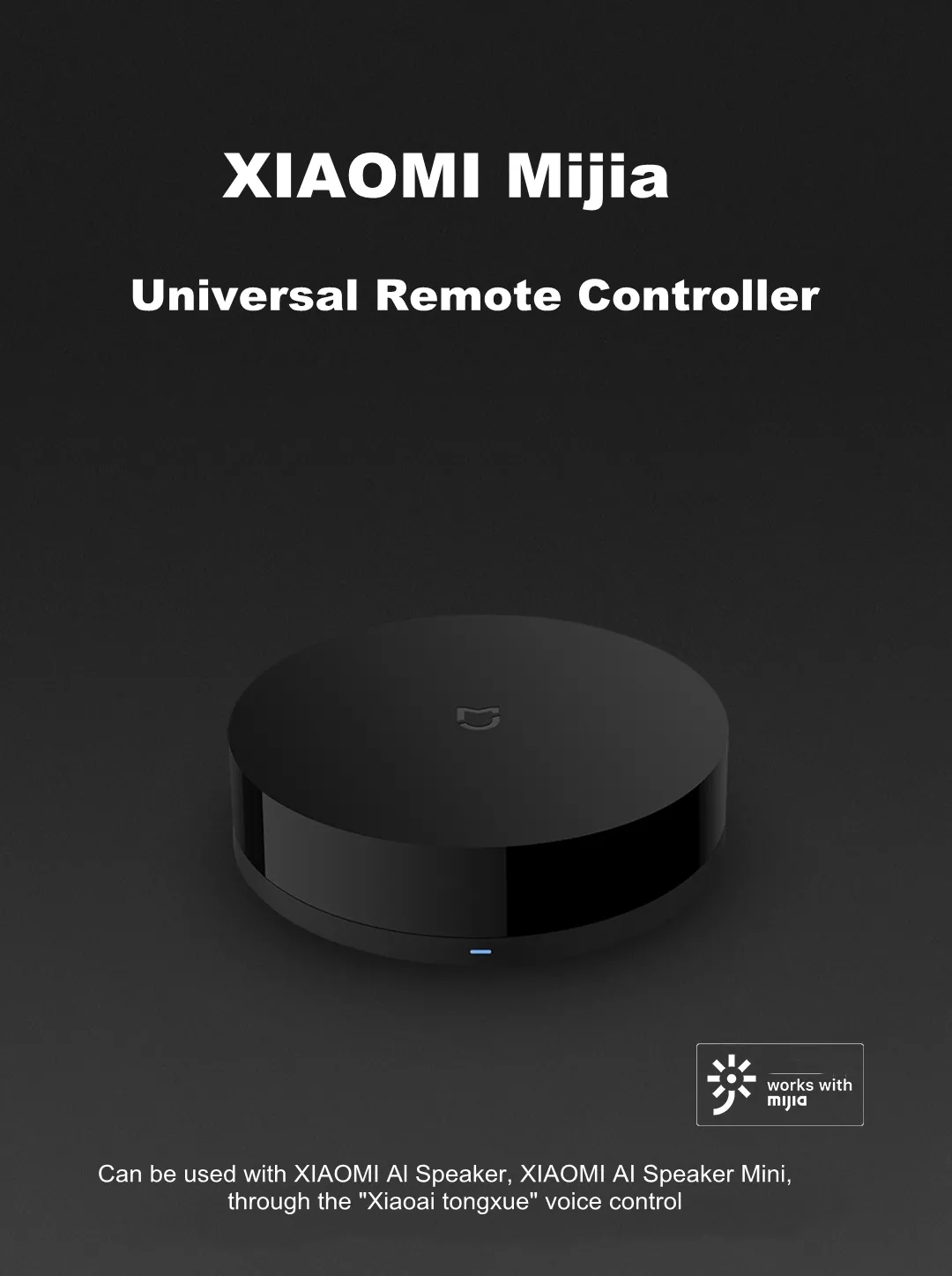 Xiaomi Mijia Universal IR Remote Controller Smart Home APP Remote Switch Support Mi AI Speaker Voice Control