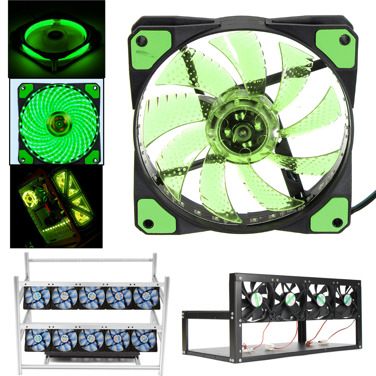 120mm Led Fan Miner Mining Supply Fan Mining Machine Fan