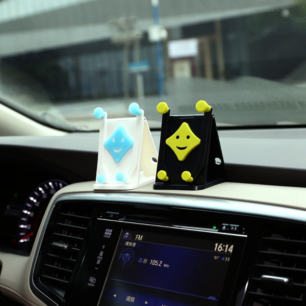 Cheshan N07 Cute Smile Face Multifunctional Car Vehicle Foldable Phone Holder for iPhone Xiaomi