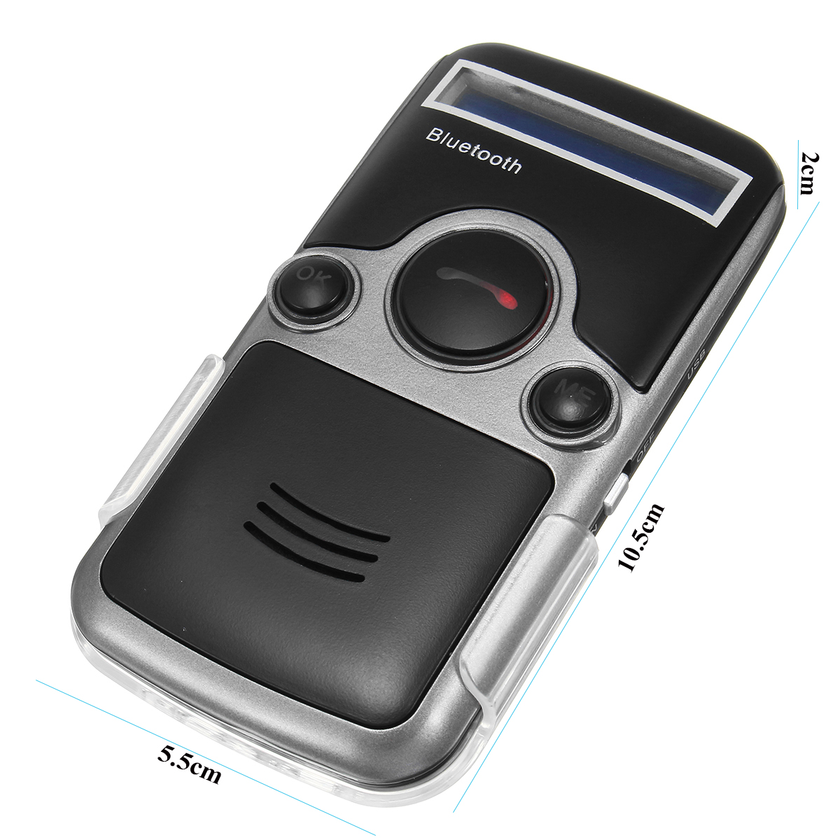 Solar Powered bluetooth Handsfree Car Kit Digtal LCD Speaker for Cellphone Dial