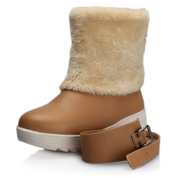 Fur Lining Keep Warm Women Winter Casual Flat Snow Boots