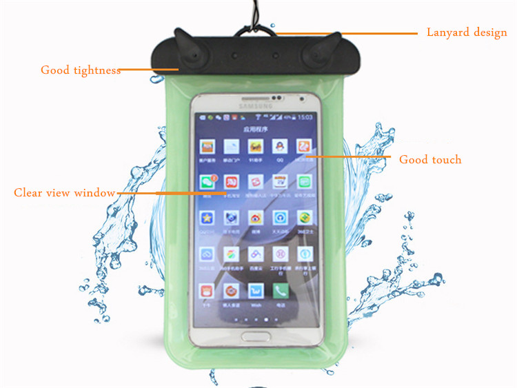 Universal Waterproof IPX8 Under Water Dry Bag Pouch Case For Mobile Phone Under 6 Inch