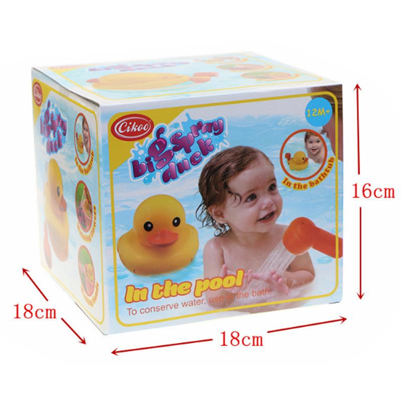 Yellow Duck Shower Head Baby Toys Sprinkler for Kids Faucet Backyard Bathing Swimming Toys