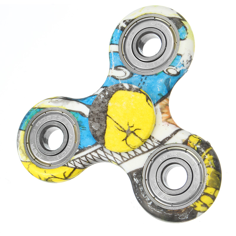 Second Generation Camouflage Rotating Fidget Hand Spinner ADHD Autism Fingertips Fingers Toys