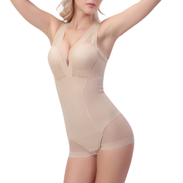 Women Sexy Mesh Perspective Shapewear Deep V Under Hook One Piece Sleepwear