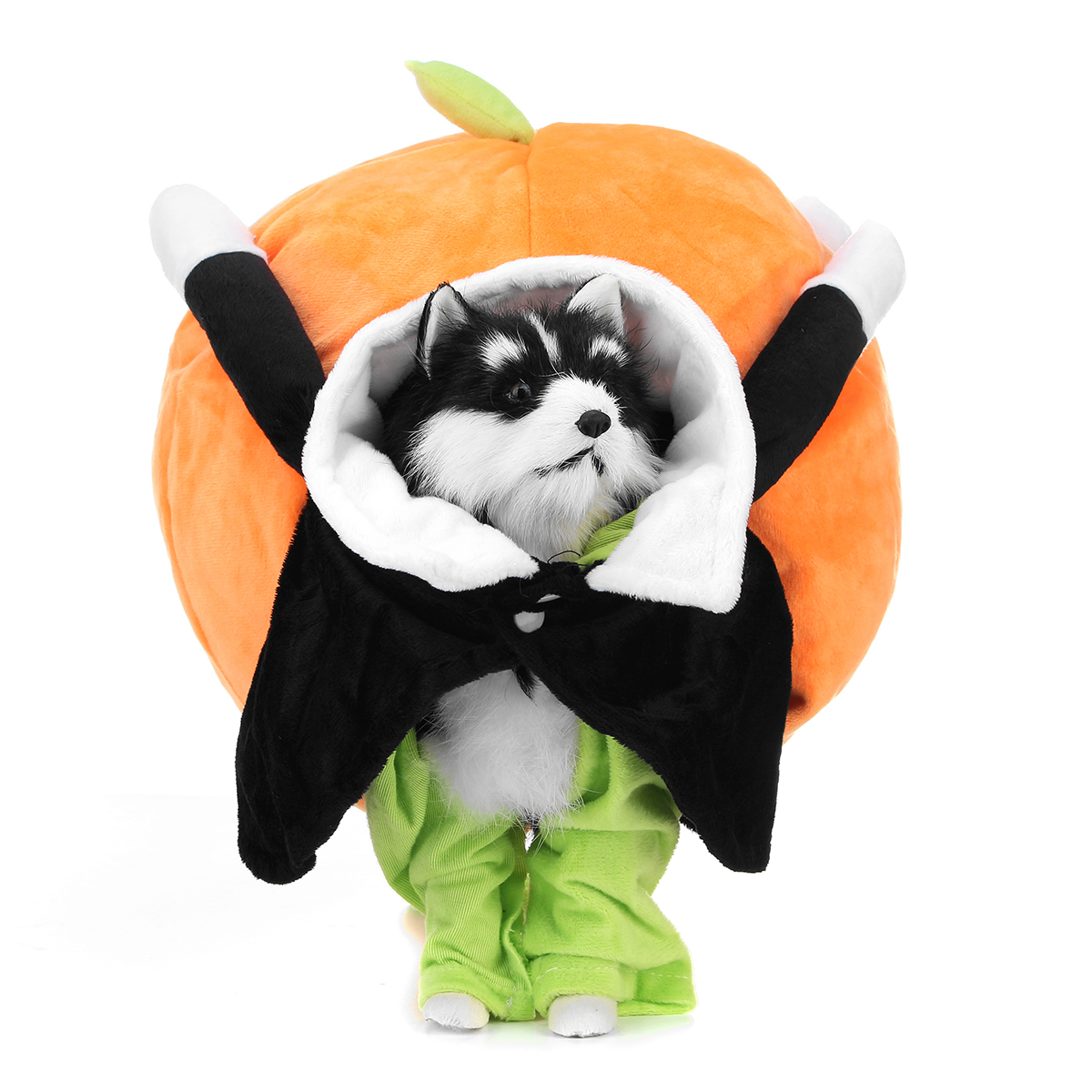 Halloween Carrying Pumpkin Pet Puppy Clothes Small Dog Cat Jumpsuit Coat Costume