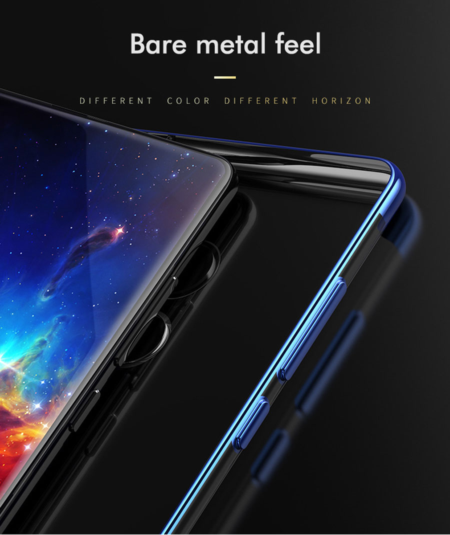 Bakeey Luxury Ultra-Thin Plating Soft TPU Protective Back Cover Case For Xiaomi Mi MIX 2