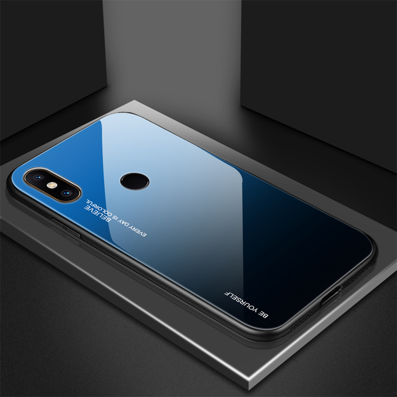 Bakeey Gradient Tempered Glass Protective Case For Xiaomi Mi MIX 3