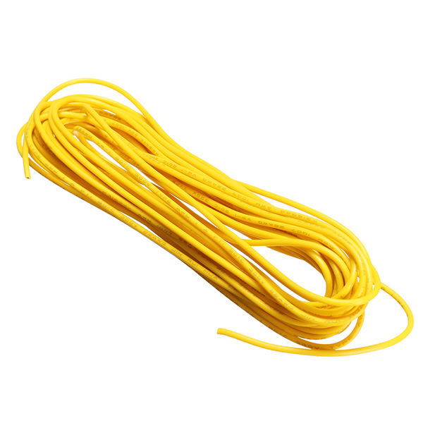 5 Lots 5 Meters/Lot Yellow 300V Super Flexible 22AWG Copper PVC Insulated Wire LED Electric Cable UL RoHS Compliant