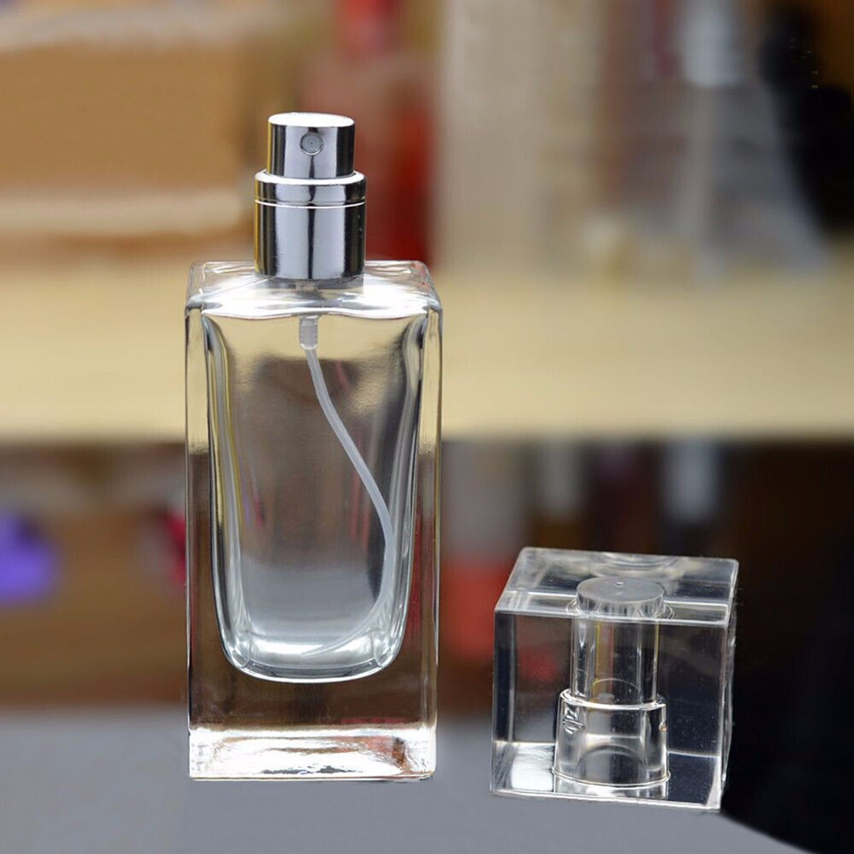 Refillable Empty Perfume Spray Container Bottle Glass Fragrance Aroma Atomizer Travel 50ml