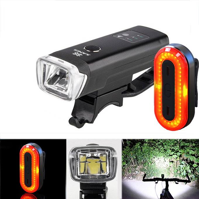 XANES SFL03 600LM XPG LED Smart Induction Bicycle Light STL03 100LM IPX8 Memory Mode Bicycle Taillight Set