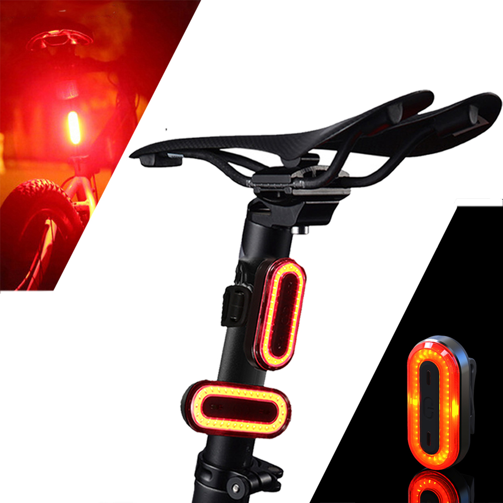 XANES STL03 100LM IPX8 Memory Mode Bicycle Taillight 6 Modes Warning LED USB Charging 360 Rotation Bike Light