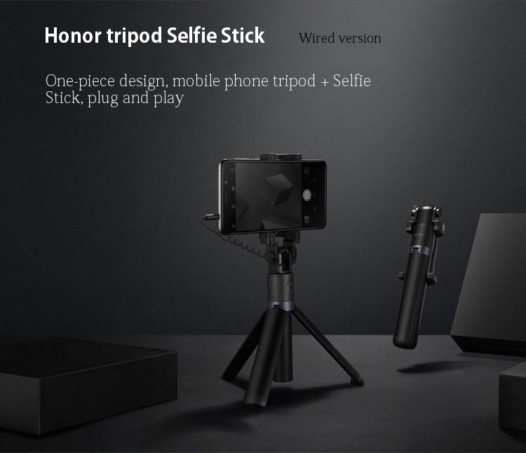 Original Huawei Honor 2 in 1 Mini Extendable Folding Tripod Wired Selfie Stick For Smartphone