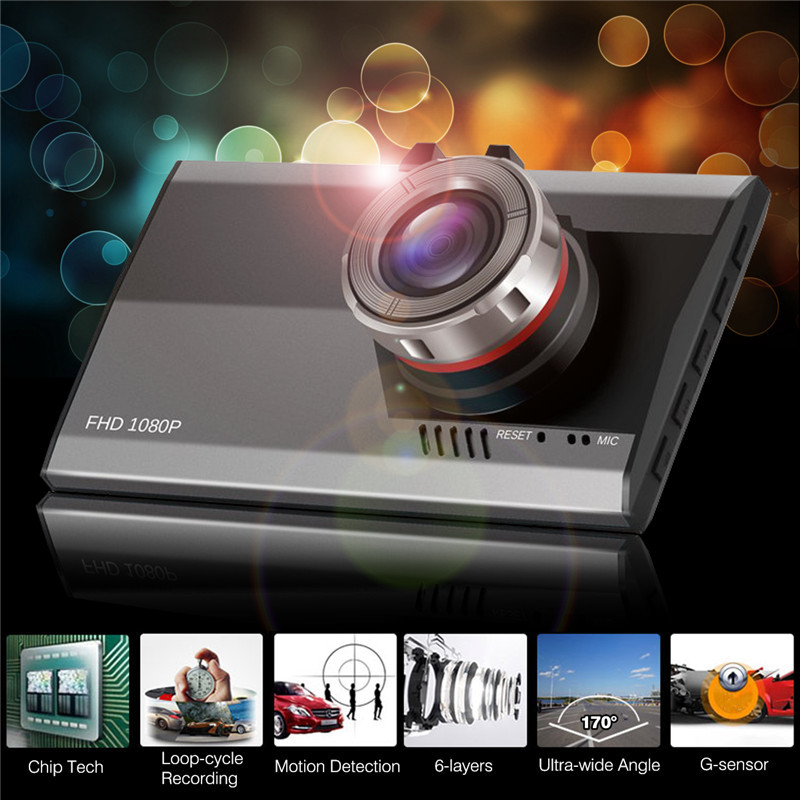 Car DVR Night Vision Dash Camera Video Recorder 1080P Full HD 3.0 inch LCD Ultra Thin