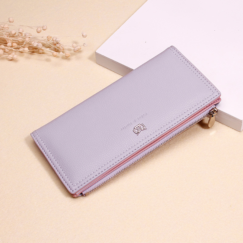 Women Faux Leather Casual Long Clutch Wallet Card Holder
