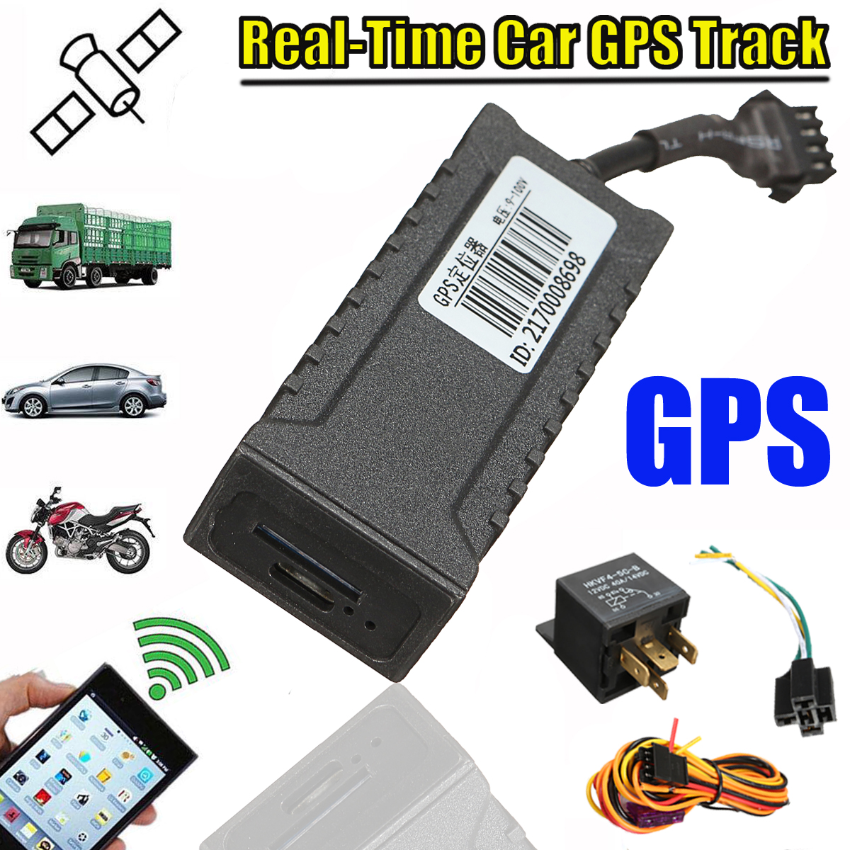 GSM GPS Tracker Vehicle Locator Global Real Time Tracking Device For Motorcycle Car
