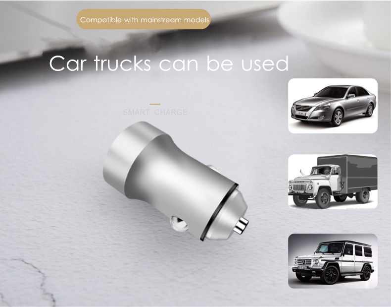 Bakeey Mini 2.4A Dual USB Ports Fast Car Charger with LED Light for S8 + S9 Xiaomi 6 Oneplus 5