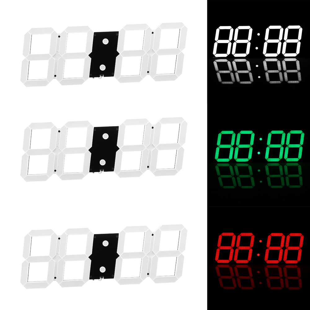 Super Large Digital Wall Clocks LED Alarm Clock Countdown Timer Remote Control Oversize Jumbo Number LED Display Snooze