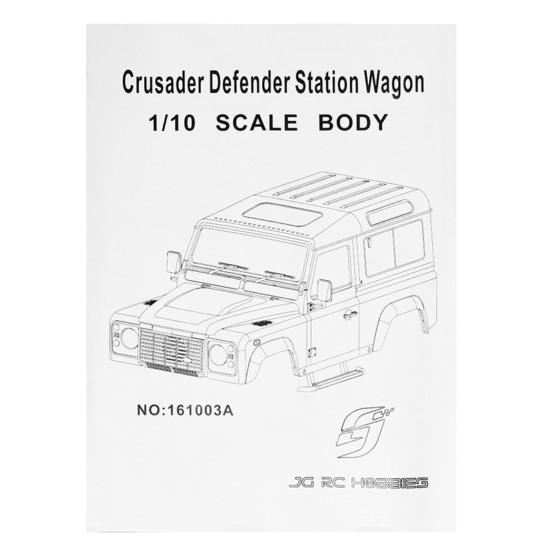 D90 1/10 Crusader Defender Station Wagon Scale Body Plastic KIT Travel Car Shell