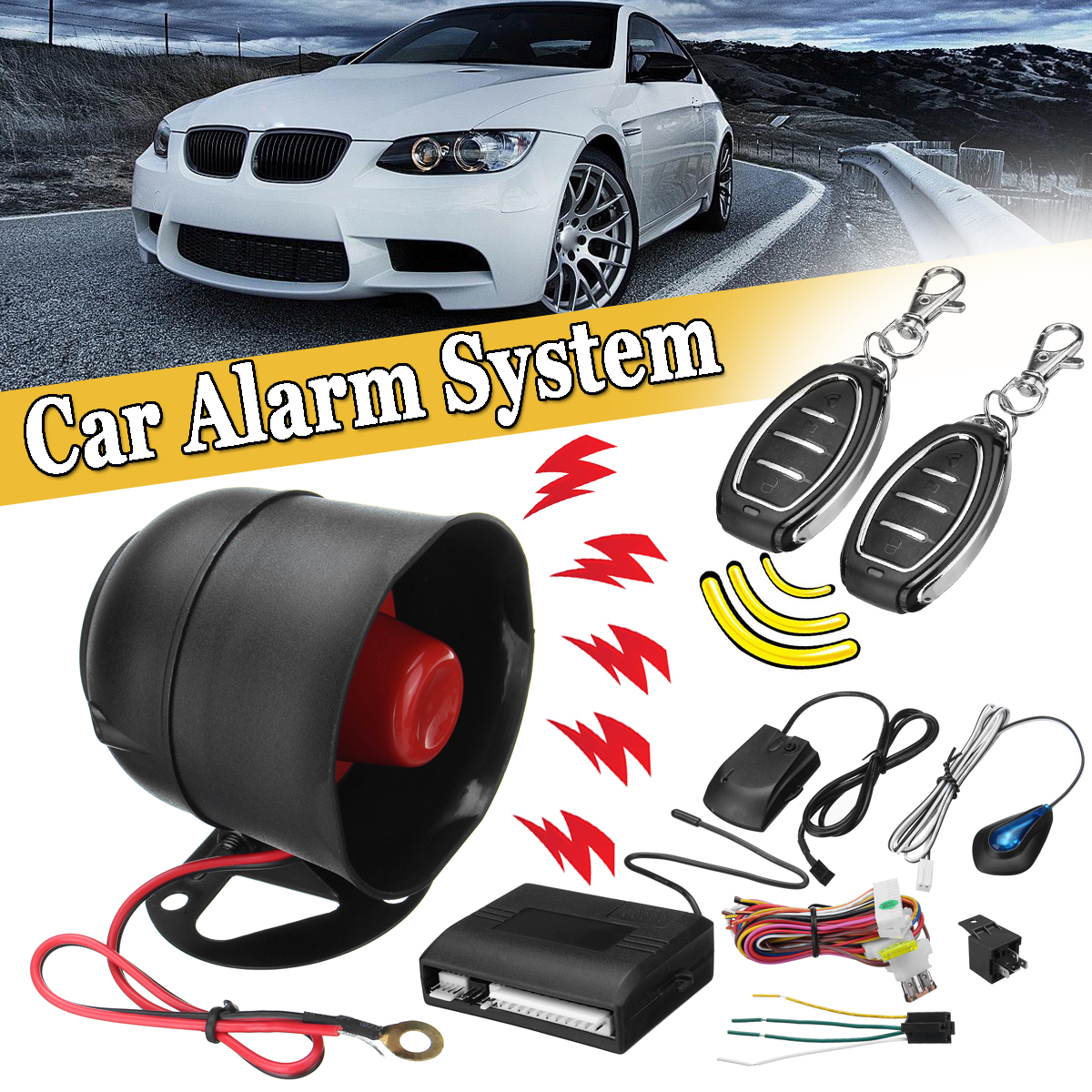Car Central Door Lock Vehicle Keyless Entry System Kit w/ 2 Remote Universal